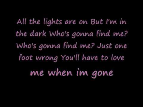 P!NK- ONE FOOT WRONG *LYRICS
