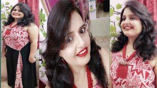 Light makeup in wearing light Gown/Red dress Makeup Look/makup for red dress/Birthday light makeup