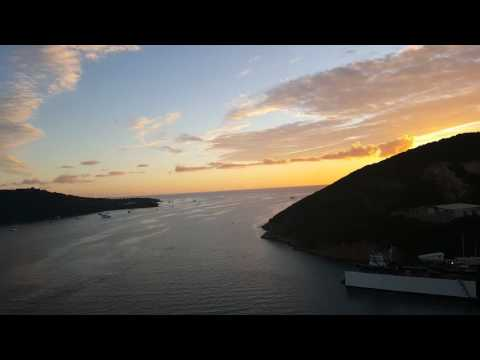 luxury travel agent Valentina 201-838-4838 sunset at US Virgin Islands st. Thomas