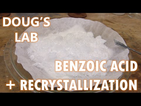 Benzoic Acid, Recrystallization, and Solubility vs pH