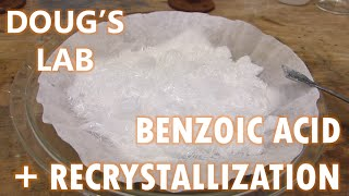 benzoic acid recrystallization and solubility vs ph