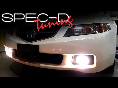SPECDTUNING INSTALLATION VIDEO: 2004 - 2005 ACURA TSX FOG LIGHTS - YouTubeYouTube