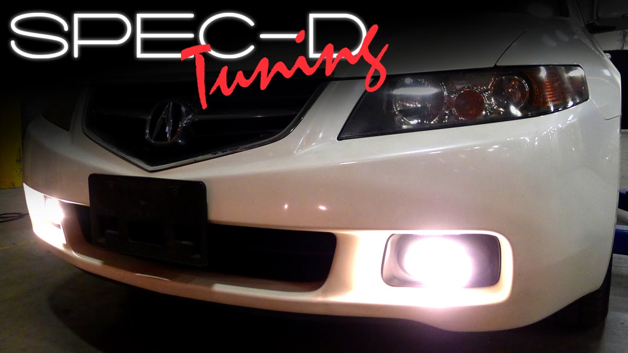 Specdtuning Installation Video 2004 2005 Acura Tsx Fog Lights Wiring Instructions For Youtube