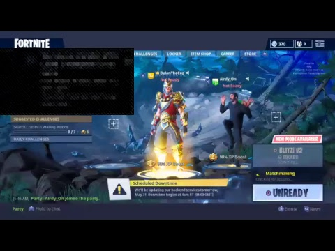 Fortnite Downtime Update Live Fortnite Servers Are Back Up