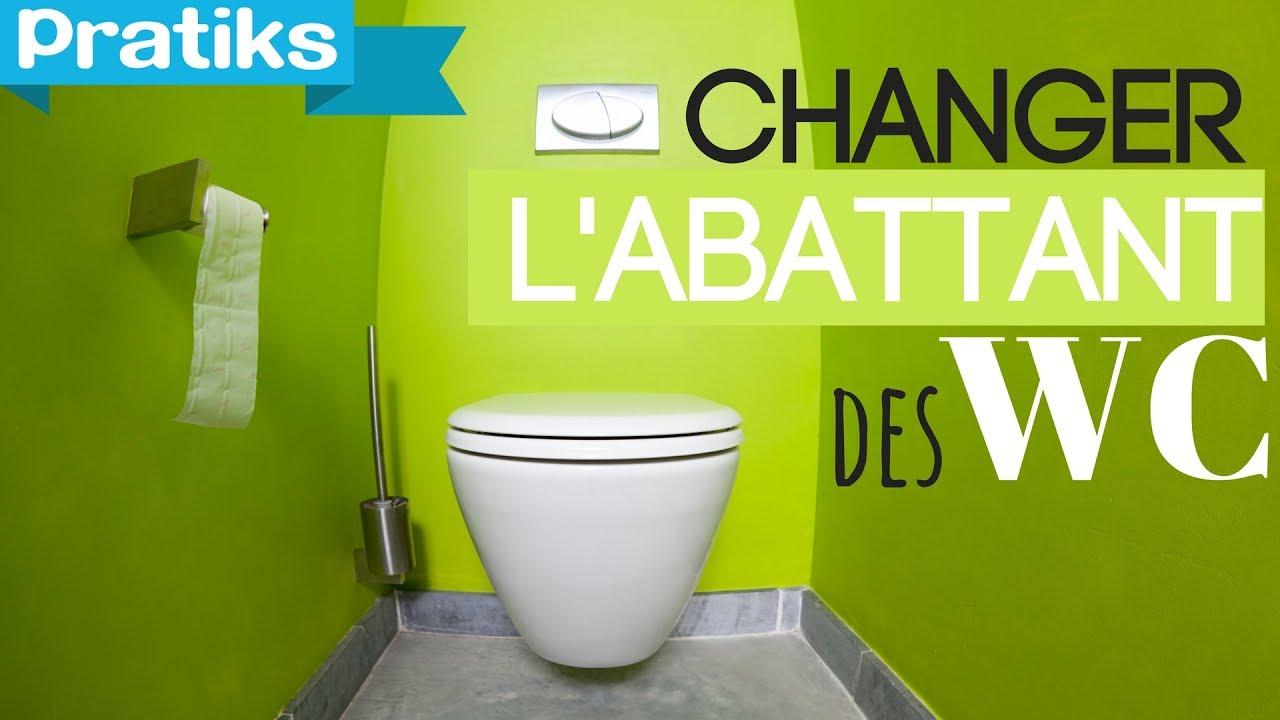 comment changer l abattant des toilettes