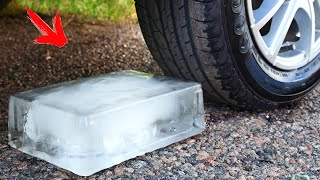 Crushing Crunchy & Soft Things by Car! Experiment: Car vs ICE