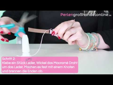 DIY: Mix & match Armband mit 10mm Leder flach