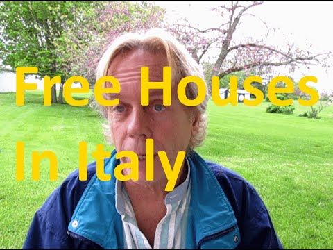 Free Houses in Italy Gary from UK Ask Opinion on Idea?