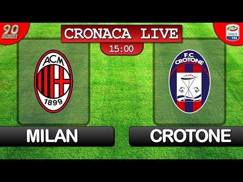 Live In Diretta Streaming Di Milan Crotone Del 06 01 18 Serie A Youtube