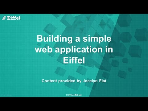 Building a simple web application using Eiffel