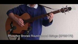 String Comparison Fretless Acoustic Guitar