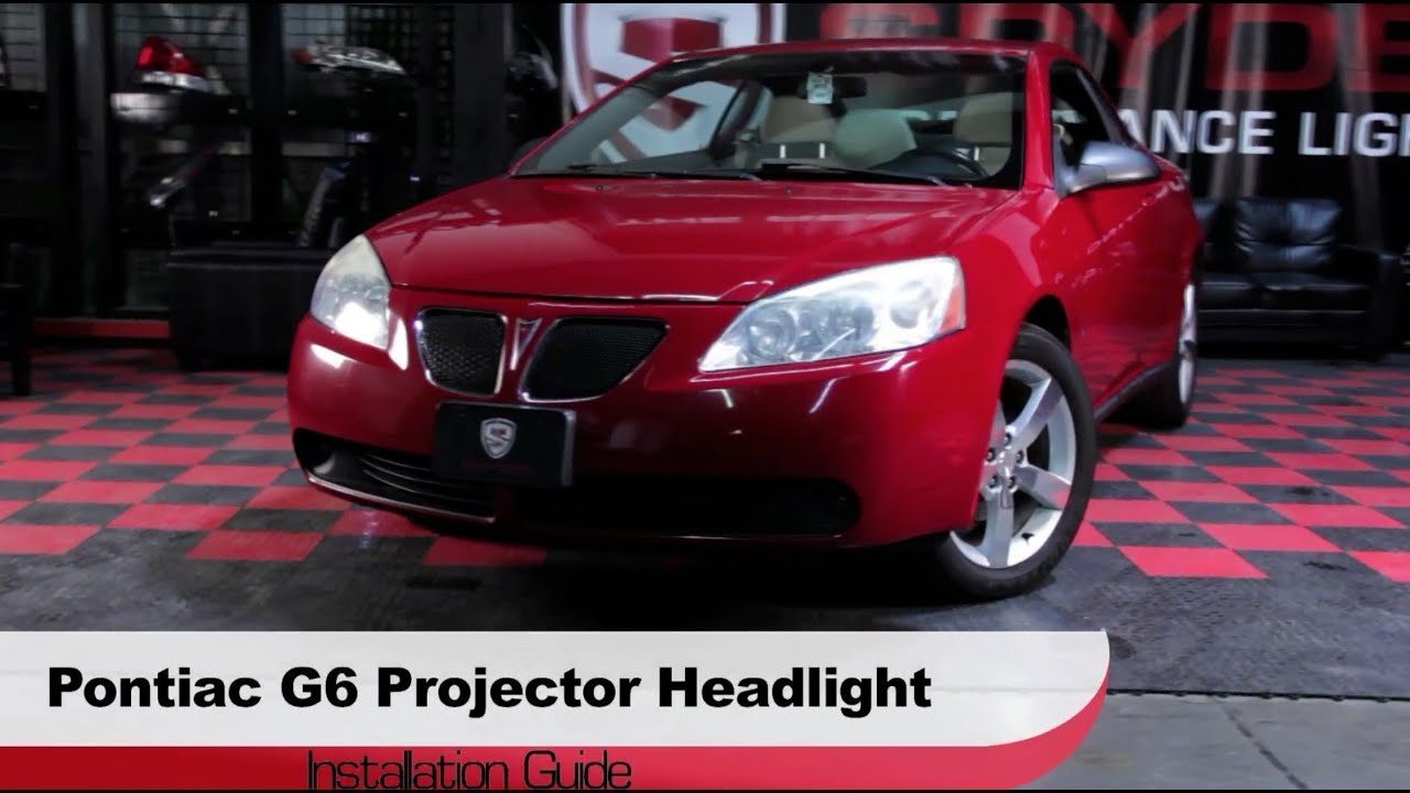 hight resolution of spyder auto installation pontiac g6 2005 08 projector headlights youtube