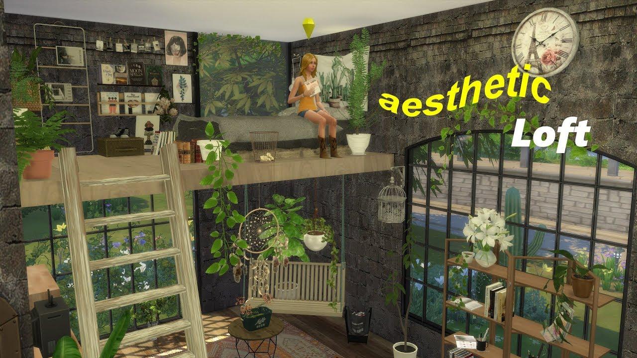 The Sims 4 AESTHETIC BOHO INDUSTRIAL LOFT🛠🔧 // Speed Build ...