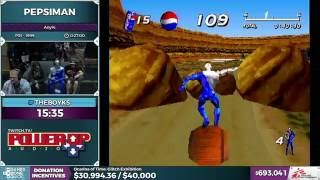 Pepsiman by theboyks in 24:47 - SGDQ 2016 - Part 158