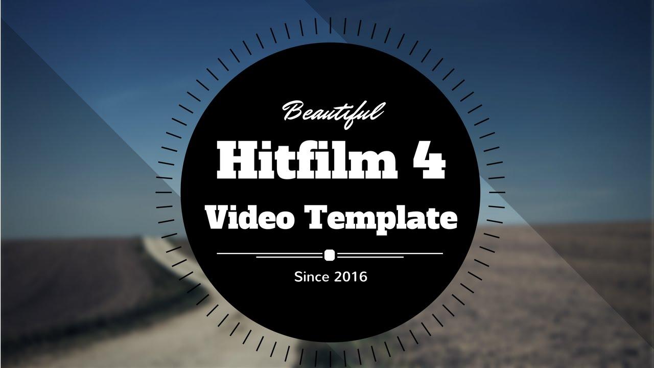 how to make hitfilm template
