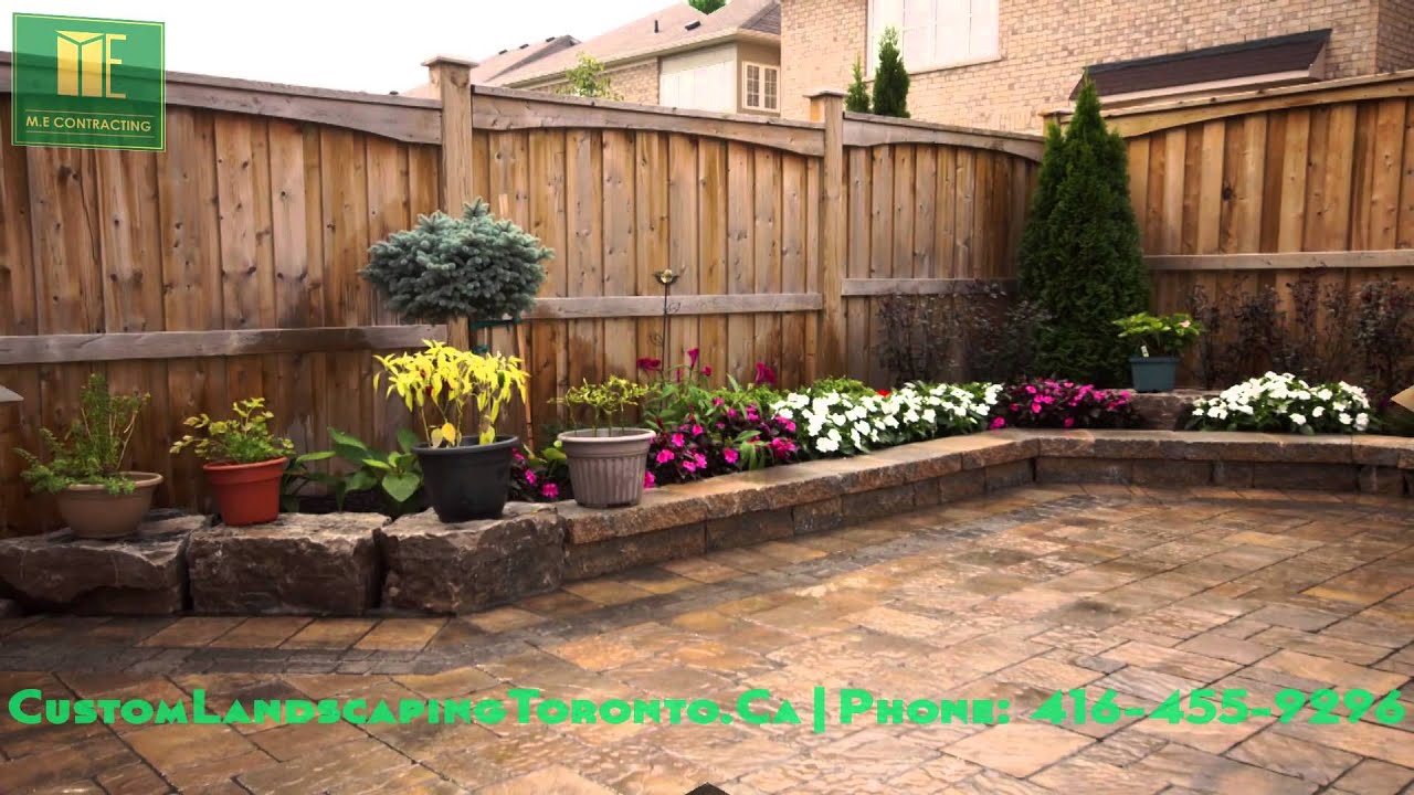 Interlocking At Backyard Patio With Retaining Walls Youtube