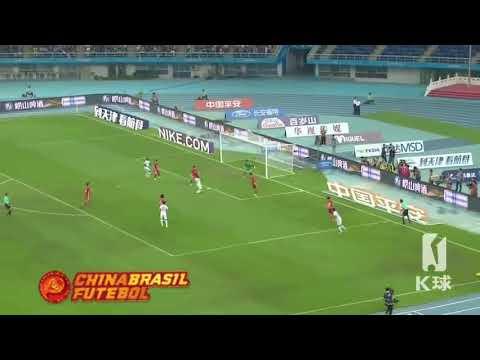 Gol Frank Acheampong - Tianjin Quanjian x Tianjin TEDA - 26a Rodada da Super Liga da China 2017