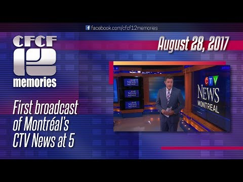 2017-08-28 - CTV Montréal - Premier of CTV News At 5 with Paul Karwatsky