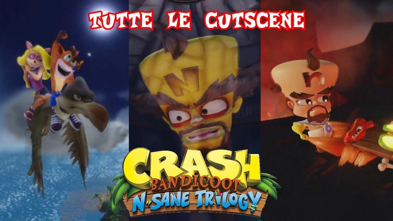 CRASH BANDICOOT N SANE TRILOGY - TUTTE LE CUTSCENE - ITA