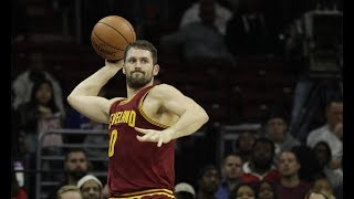 Every Kevin Love Touchdown Pass to LeBron James! (2016-2017)
