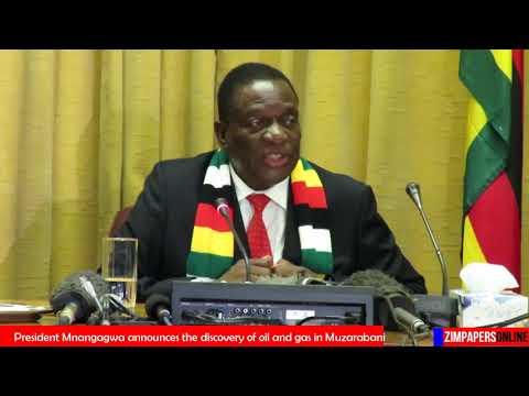 OIL and Gas deposits in Zim -  President Mnangagwa announces 01 Nov 2018