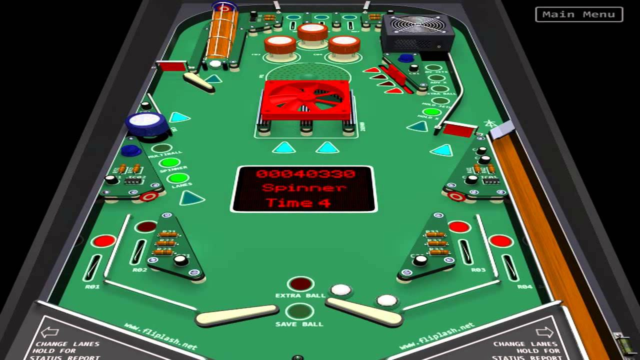 Short Circuit Pinball Flash Youtube Game