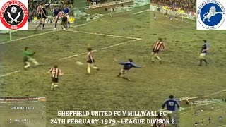 SHEFFIELD UNITED FC V MILLWALL FC - 24TH FEBRUARY 1979 - SECOND DIVISION - BRAMHALL LANE thumbnail