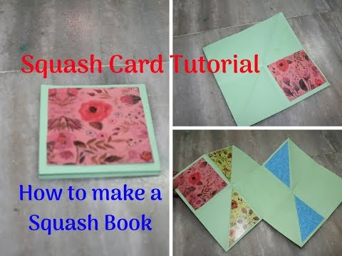 How to make Squash Card|How to make a Squash Book|Double Squash Card|Tutorial