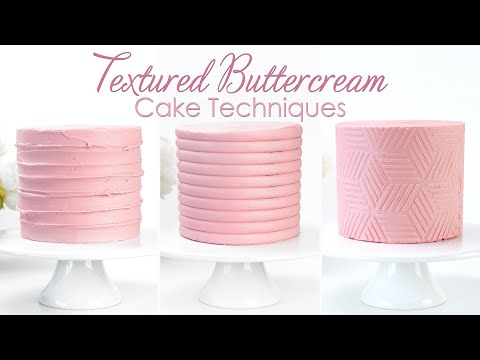 Adding Texture onto Buttercream Cakes - Rustic Buttercream, Texture Comb and Using Stencils