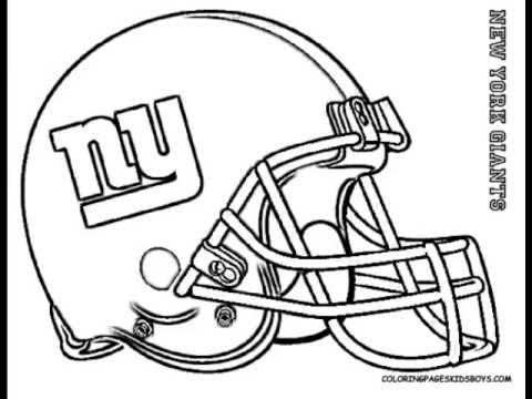 ColoringBuddyMike: Football Helmet Coloring Pages - YouTube