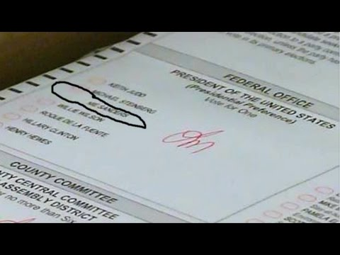 "US Election Fraud Proved-""White Out"" on Ballots Photographed in CA"