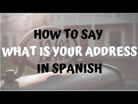 how do you write a spanish address