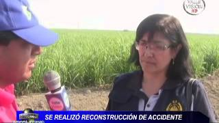 CARTAVIO: RECONSTRUCCIÓN DE ACCIDENTE 07-06-2013 ENTRE CAMIÓN Y TRAILER