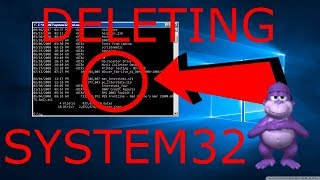 DELETING SYSTEM32 in WINDOWS 10 (ft. BONZI BUDDY)