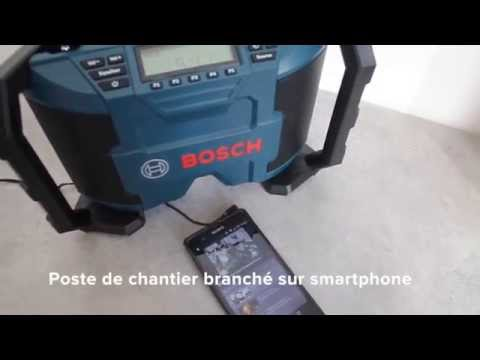 bosch gml 10 8v poste radio de chantier youtube. Black Bedroom Furniture Sets. Home Design Ideas