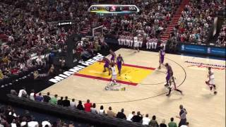 NBA 2K10 Gameplay: LA Lakers vs Miami Heat featuring Lebron James, Chris Bosh and Dwyane Wade