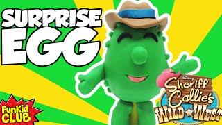 Sheriff Callie's Wild West Friends! Play-Doh Surprise Egg!! TOBY From Sheriff Callie's Wild West!
