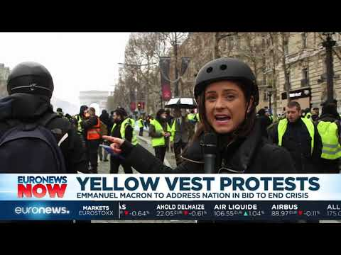 Macron prepares to address the country amid Yellow Vest protests | #EuronewsNow