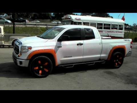 DUBSandTIRES.com 20 Inch XD Series Rockstar 2 Black Orange Custom Painted Rims Miami Hollywood