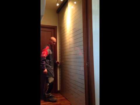 porta scorrevole per cabina armadio - YouTube