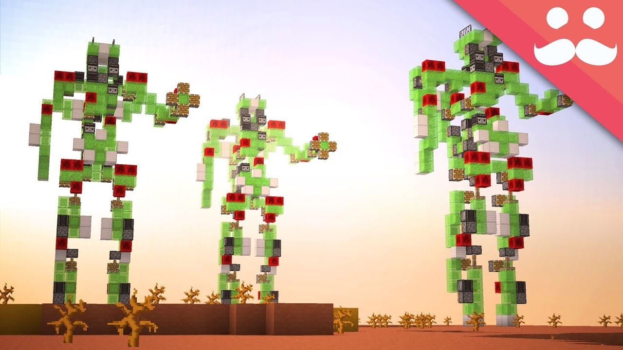 Making a MEGA WALKING ROBOT in Minecraft!