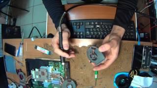 восстановление кулера ноутбука, если он не крутится, но еще не сгорел