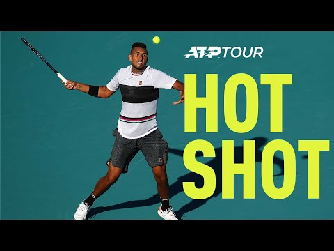 Hot Shot: How To Escape Danger On Serve By Nick Kyrgios In Miami 2019