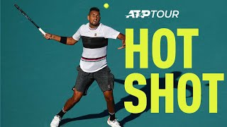 Hot Shot: How To Escape Danger On Serve By Nick Kyrgios In Miami 2019 thumbnail