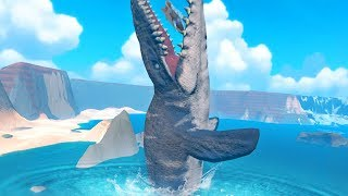 GIANT MOSASAURUS CRASHES THE GAME - Feed and Grow Fish - Part 104 | Pungence