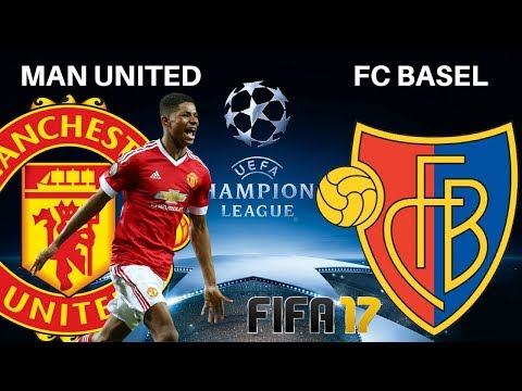 UEFA Champions League Manchester United vs FC Basel Highlights Old Trafford | FIFA 17 PC Gameplay HD