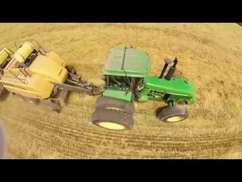 2015 Big Squre Baling Wheat Straw UAV POV