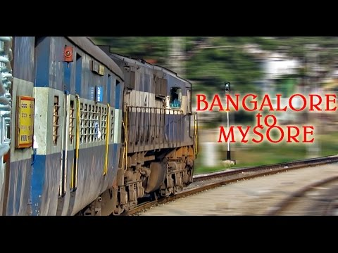 BANGALORE to MYSORE : A Morning TRAIN Journey behind an ALCO (Indian Railways)