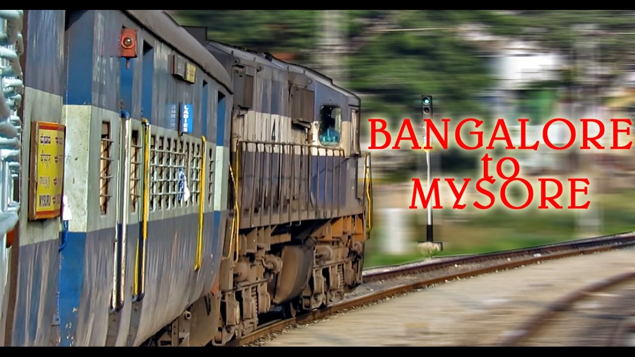 Bangalore to mysore  morning train journey behind an alco indian railways youtube also rh