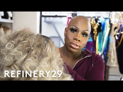 This Drag Queen's $15,000 Wig Closet Tour | Hair Me Out | Refinery29